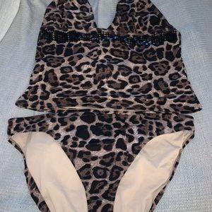 Newport News leopard bathing suit